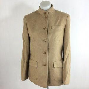 Talbots Camel Hair Blazer Jacket Brushed Beige Lux